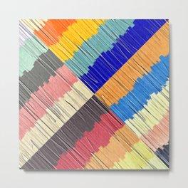 Cool Colors Collage Metal Print