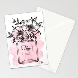 Floral Fragrance Pink Stationery Cards