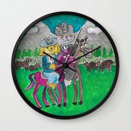 Montana Cats Wall Clock