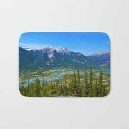 Overlooking the Athabasca River from the Morrow Peak Hike in Jasper National Park, Canada Bath Mat