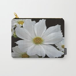 White Cosmos Carry-All Pouch