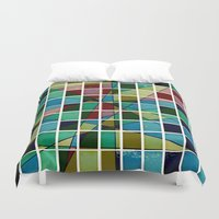 mosaic Duvet Covers featuring Mosaic by Tammy Kushnir