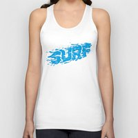 surf Tank Tops featuring SURF by Some Kid Chris