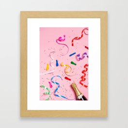 Pink Champagne Party Framed Art Print