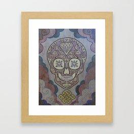 Smiling Skull Framed Art Print