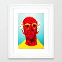 larry david Framed Art Prints featuring Larry David 4 by Alyssa Underwood Contemporary Art