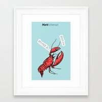 lobster Framed Art Prints featuring lobster by mark ashkenazi