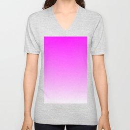 Pink Ombre flames Unisex V-Neck