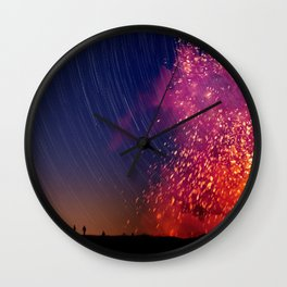 Kilauea Volcano Eruption .2 Wall Clock