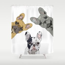 Triple Frenchies Shower Curtain