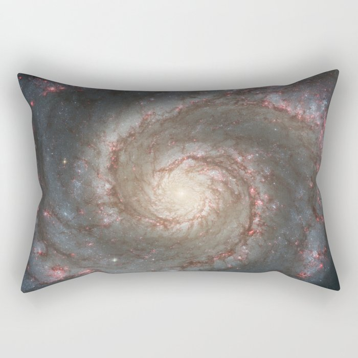 The Whirlpool Galaxy - Space Photograph Rectangular Pillow
