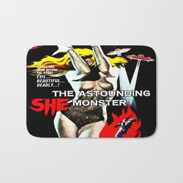 The Astounding She Monster Bath Mat