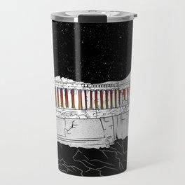 Parthenon black and white Travel Mug