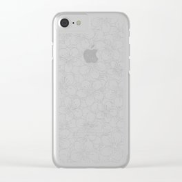 Cherry Blossom Black on White - In Memory of Mackenzie Clear iPhone Case