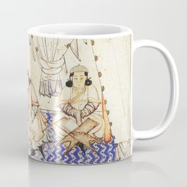 14th Century Mongol Prince Studying Koran Watercolor Painting Coffee Mug