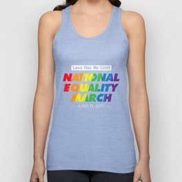 LGBT T-Shirt Love Has No Limit National Equality LGBT Gift Unisex Tank Top