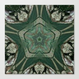 The Green Unsharp Mandala 2 Canvas Print