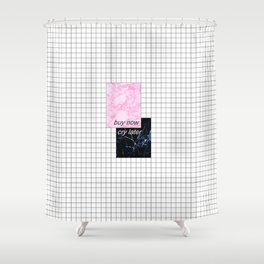 buy now, cry later Shower Curtain