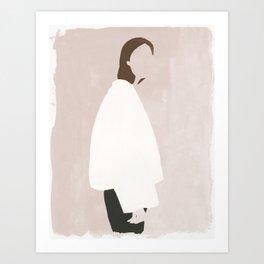 Minimalist in an Oversized Coat Art Print