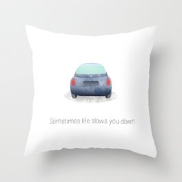 Road rage #1 Throw Pillow