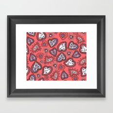 Love & heart Framed Art Print