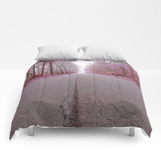 Misty Wonderland Road Comforters