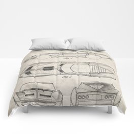 Classic Car Patent - American Car Art - Antique Comforters