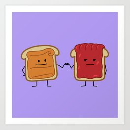 Peanut Butter and Jelly Fist Bump Art Print