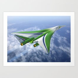 429. Another Take on Supersonic Art Print