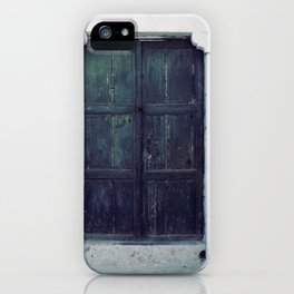 Santorini Door II iPhone Case