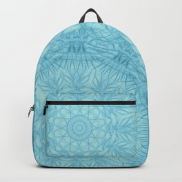 Abstract blue thistle mandala Backpack