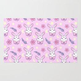 Sakura Bunny // Pink Rug