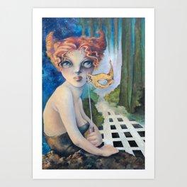 The Masquerade, Lucia Art Print