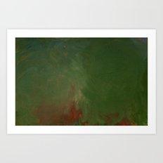Leaf vert Art Print