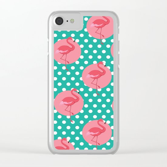 FLAMINGO 3 Clear iPhone Case