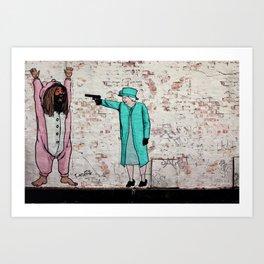 Street Art London Queen Thug Urban Wall Graffiti Artist Prolifik Art Print