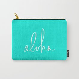 Aloha Tropical Turquoise Carry-All Pouch