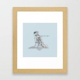 Don't Wanna Cry Framed Art Print