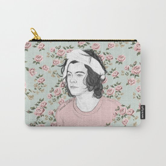 H circle floral  Carry-All Pouch
