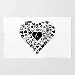 I Love First Aid   Doctor Nurse Heart Hospital Rug