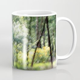 Abstract forest, intentionally blurred by camera shake  Coffee Mug