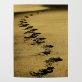 Sepia Sands Poster