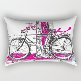 Lone Bicycle Rectangular Pillow