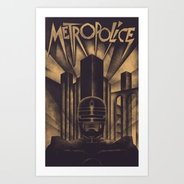Metropolice Art Print