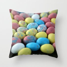 Colorful Candy Eggs Throw Pillow