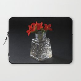 Red Succulent Blossoms Laptop Sleeve