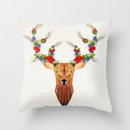 deer spring Throw Pillow