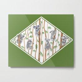 Koala Forest Metal Print