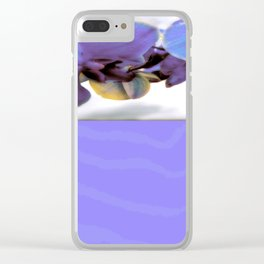 Purple Orchid and Zebra Clear iPhone Case