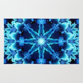 Crystal Light Mandala Rug